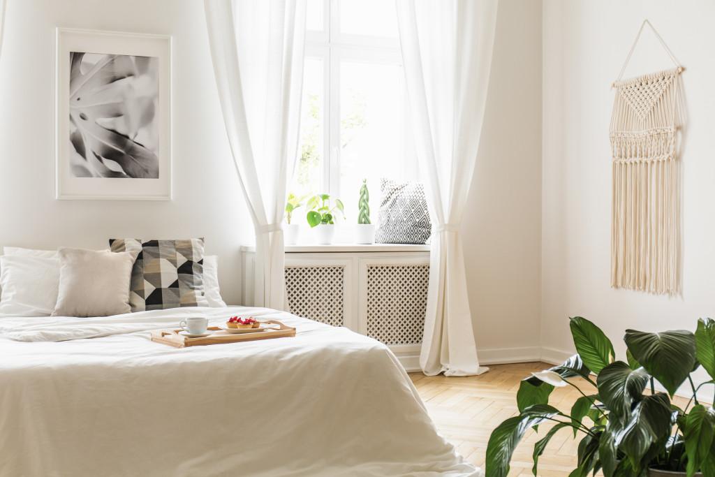 white simple bedroom